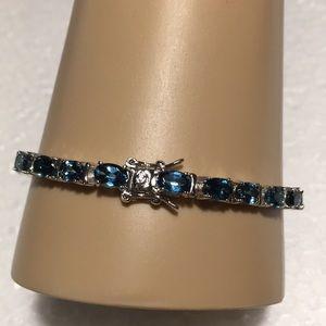 Jewelry - STERLING SILVER LONDON BLUE TOPAZ BRACELET NWOT